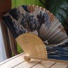JAPANESE TRADITIONAL BAMBOO FAN WITH PAPER UKIYOE CONCEPT SENSU