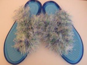 Light Blue Jellies Flip Flops