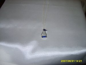 Sail boat Pendant on S/S Chain