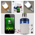 Wireless Bluetooth V4.0 Audio Speaker Music Player In-Ceiling/wall Bulb E27 LED