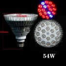 54W E27 LED Grow Light for Flowers Plant and Hydroponic System,
