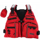 ADJUSTABLE ADULT LIFE JACKET WATERPROOF CLOTH