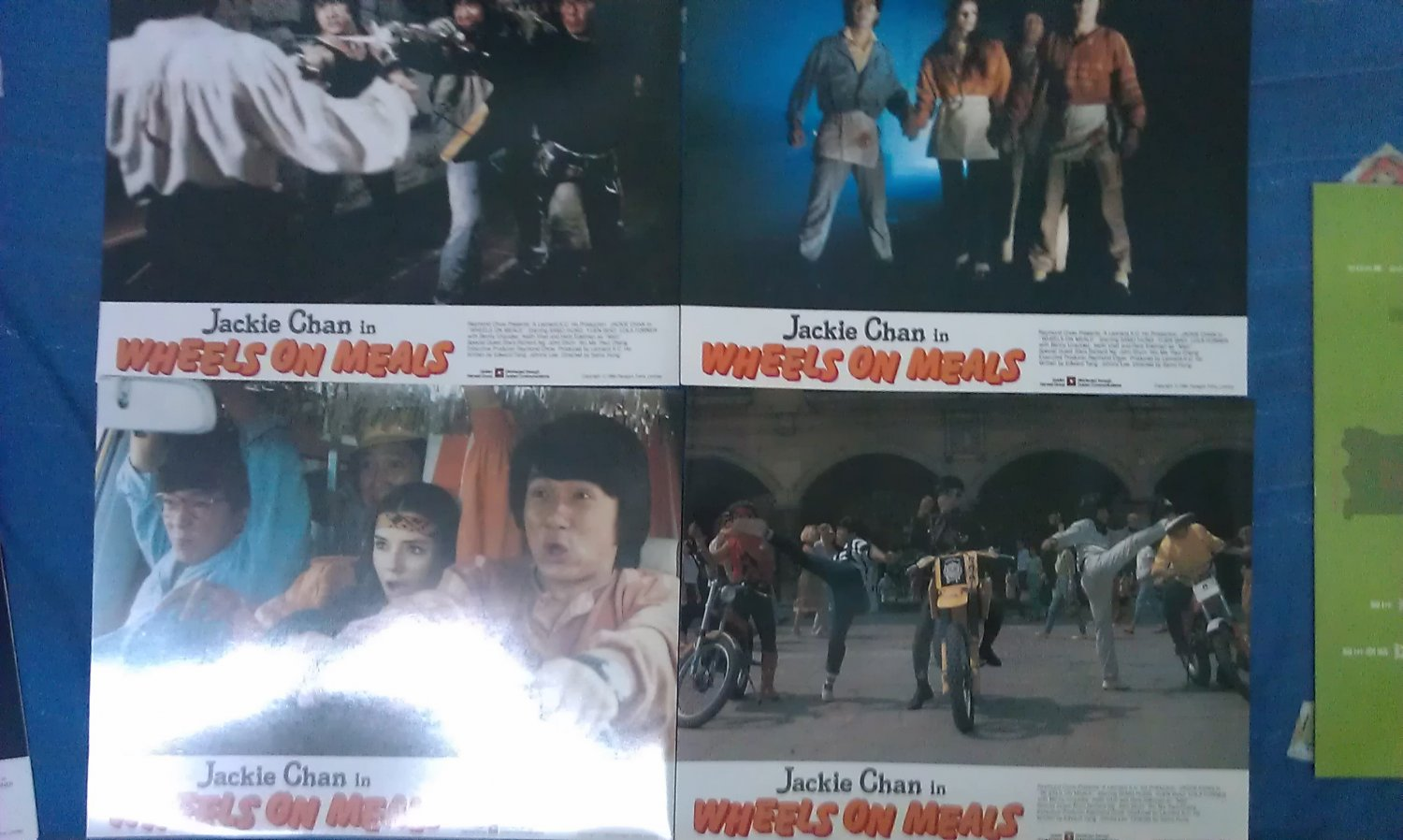 Jackie Chan Wheels on Meals Original English Lobby Cards