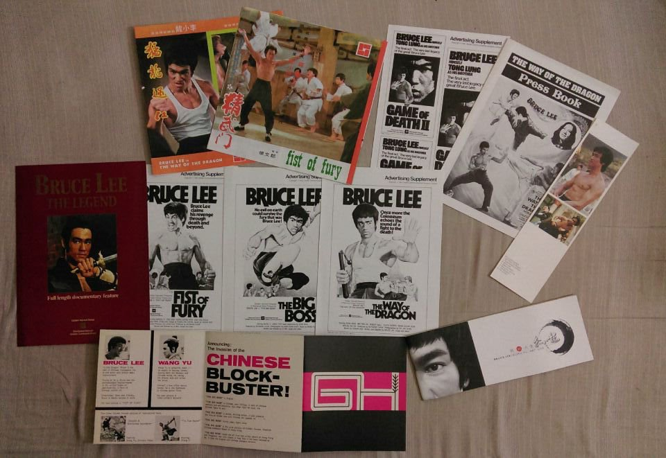 Bruce Lee Booklet + Way of the Dragon, Game of Death, Fist of Fury and The Big Boss Flyers