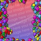 Colorful Balloons Digital File Photo Template Frame 5x7