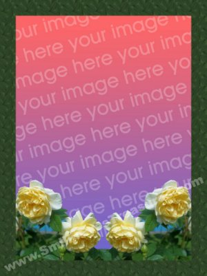 Yellow Roses Digital File Photo Template Frame 5x7