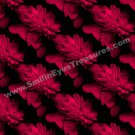 Red Hot Peonies Tiled Pattern Floral Background Digital File