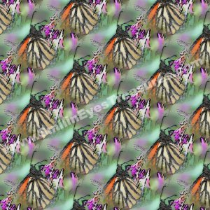 Monarch Butterfly Tiled Pattern Nature Background Digital File