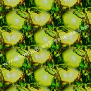 Green Tomatoes Tiled Pattern Nature Background Digital File