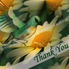 Yellow Daisy And Bird Digital Printable Thank You