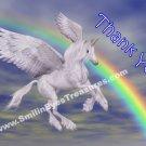 Flying Unicorn Rainbow Sky Printable Thank You