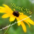 Black Eyed Susan Daisy Flower Printable Thank You Card