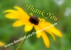 Black Eyed Susan Daisy Flower Printable Thank You Card