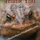 Toad Frog Face Nature Printable Thank You