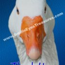 White Goose Face Animal Printable Thank You