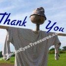 Country Garden Scarecrow Printable Thank You Card