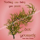 Inner Peace Inspirational Quote Printable Digital File Card