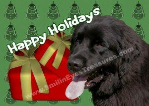 Newfoundland Dog Printable Christmas Holiday Card