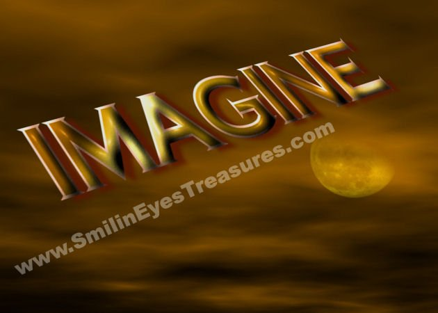 Imagine Fantasy Sky Inspirational Printable Digital File Card