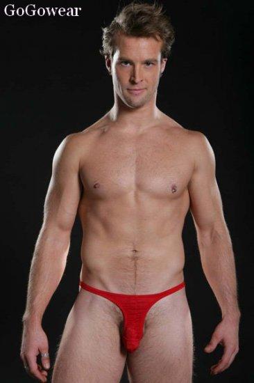 Men's Hot Red Mini-String,Male stripper underwear (3207)                  Free Shipping!!!