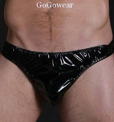 Men's Sexy Shiny Vinyl Look Thong ,Underwear (3030)                  Free Shipping!