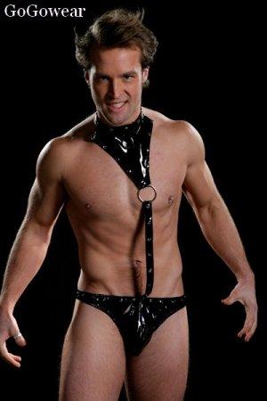 *Hot item*Male Vinyl Bodysuit thong underwear (8005)                      free shipping!