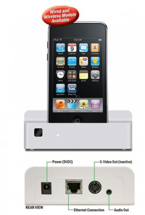 HAI 96A002 IPOD DOCK FOR IPOD TOUCH & IPHONE WIRED/ WIRELESS NEW