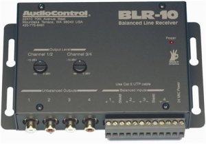 AUDIOCONTROL BLR10 BALANCED LINE RECEIVER- CAT5 TO 4CH RCA NEW