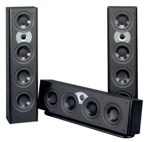 ATLANTIC FS3200CGLB CENTER CHANNEL SPEAKER GLOSS BLACK NEW