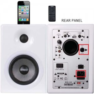 Earthquake IQ-52W iQuake 2.1 5.25 200W 2 Way Speaker System for iPod and Portable Media White