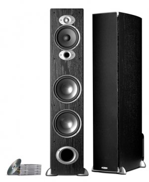 POLK AUDIO RTIA7BL A SERIES FLOORSTAND TOWERS BLACK 300W