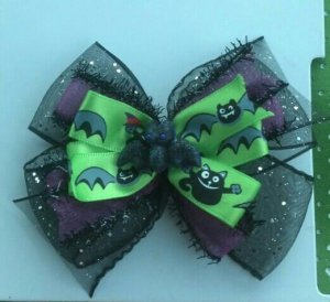 Black and Green Bat Bow