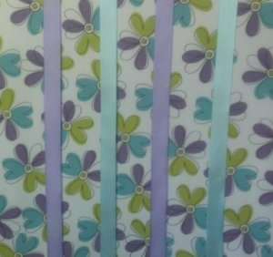 Purple and Blue Flowered Bow Holder Board