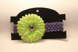 Purple and Green Flower Headband (Infants/Toddlers)