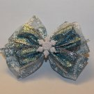 Light Blue Snowflake Bow