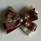 Gold and Burgundy Bow