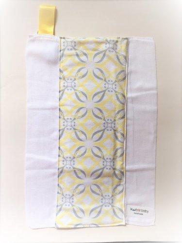 YELLOW GREY MOD- Handmade Burp Cloth/Cloth Diaper