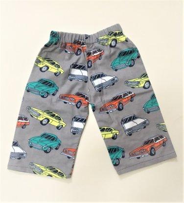 VINTAGE CARS- Handmade Infant/Toddler Lounge Pants       6-12MO