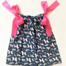 DOG DAYS Pink Ribbon Handmade Infant/Toddler Dress/Blouse    Size:12-18MO
