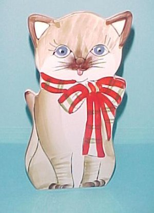 Cute Vintage Cat Wall Pocket Lucie Sable Imports Japan