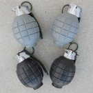 Set of Four (4) Toy Hand Grenades with Realistic Sounds