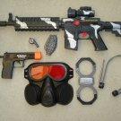 M16 Police SWAT Toy Gun Play Set includes M16 Toy Machine Gun + Pistol