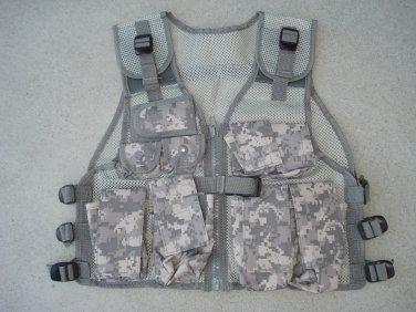 Kids Tactical Combat Vest ACU Digital Camouflage 9 Pockets Adjustable