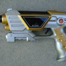 "Command Toy Pistol 9"" Lights Sounds Silver/Gold"