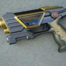 "Command Toy Pistol 9"" Lights Sounds Grey/Gold"