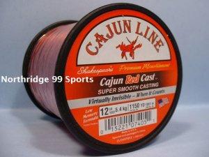 CAJUN RED LIGHTNIN RED CAST 12# 1150 yds FISHING LINE