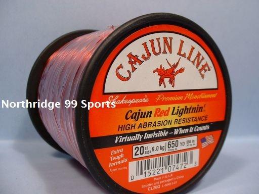 Cajun Red Lightnin 20# 650 yds Fishing Line