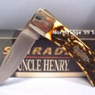 "SCHRADE UNCLE HENRY BRUIN 5UH 4"" Lockback  w/Sheath NEW"