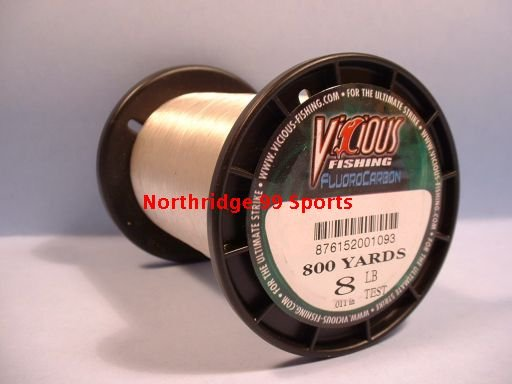 VICIOUS FLUOROCARBON  8# 800 yds FISHING LINE