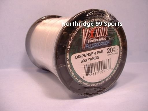 VICIOUS FLUOROCARBON  20# 800 yds FISHING LINE